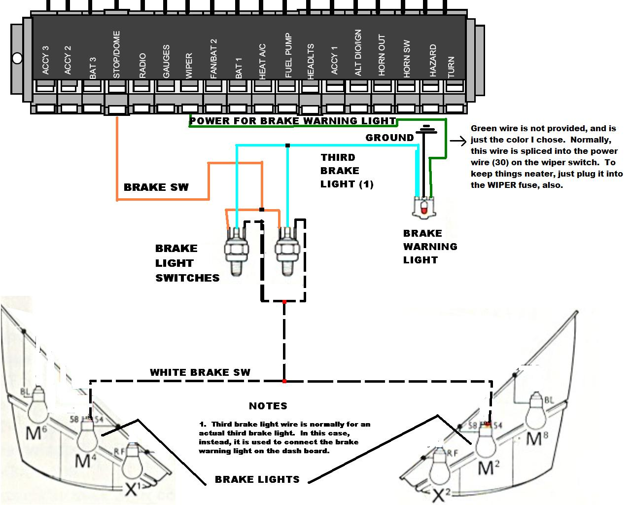 1974 vw thing wiring diagram