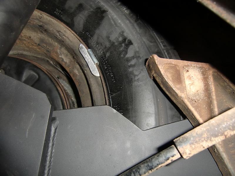 straight axle conversion - tire rubbing on torsion housing