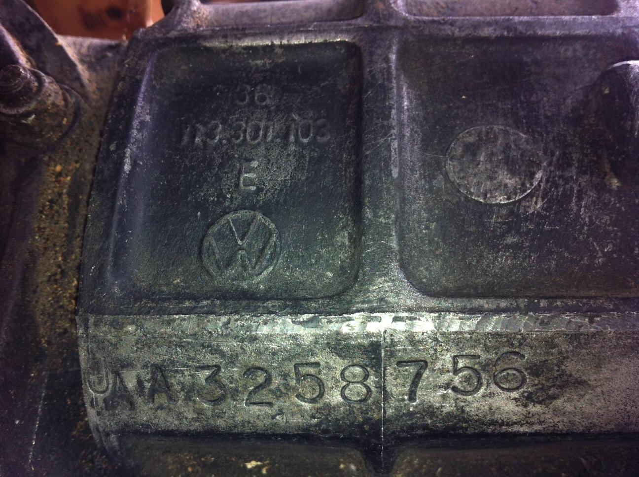 TheSamba com :: Beetle - 1958-1967 - View topic - VW Transaxle ID