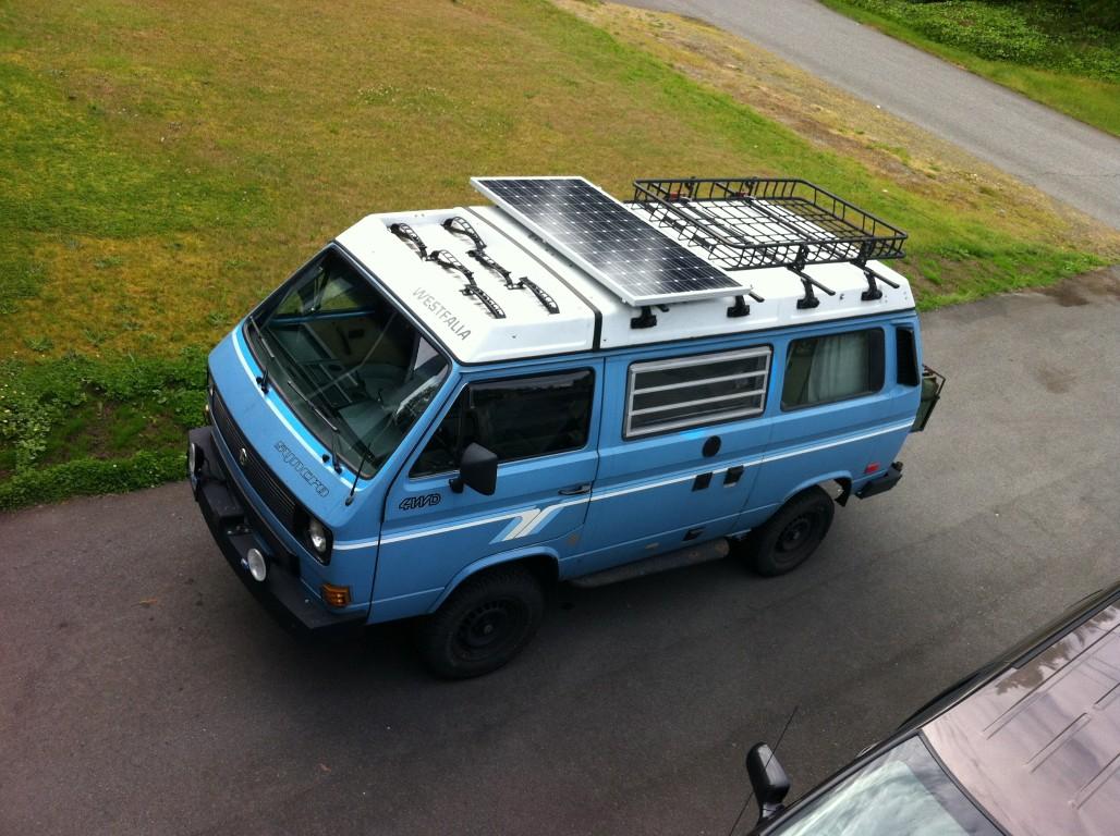 TheSamba com :: Vanagon - View topic - 190W solar panel install