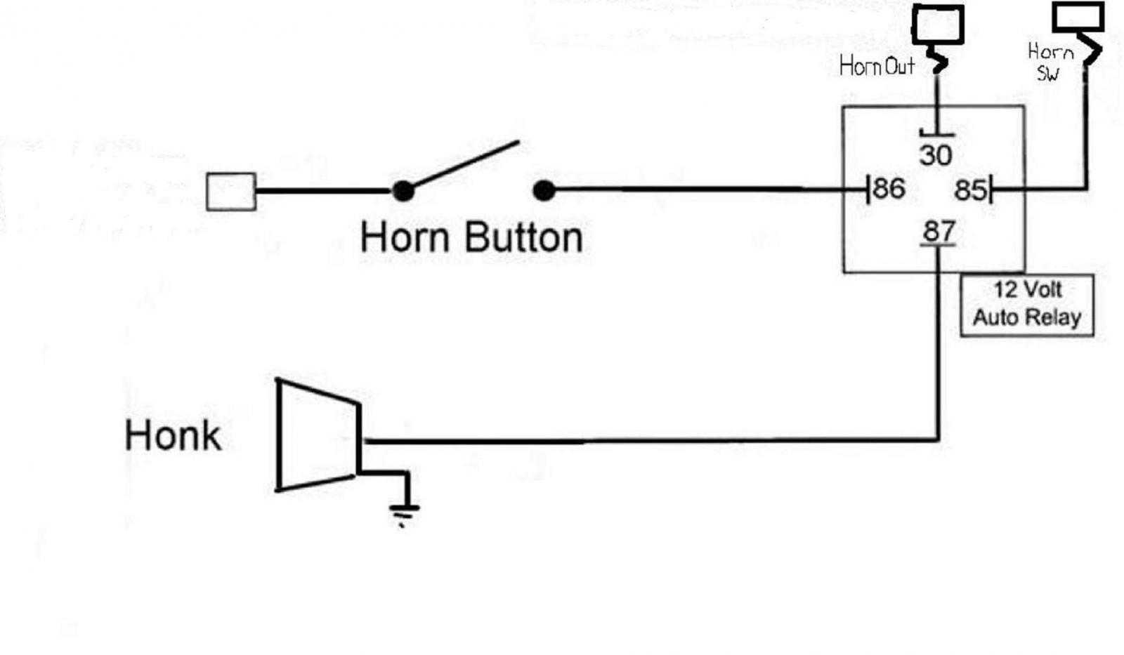 How To Wire A Horn on | Wiring Diagram Up A Horn Relay Wiring on wiring a neutral safety switch, wiring a water pump, wiring a dimmer switch, wiring a fuel pump, wiring a wiper motor, wiring a turn signal switch, wiring a circuit breaker, wiring a oil pressure switch, wiring a window motor, wiring a combination switch, wiring a blower motor, wiring a starter switch,