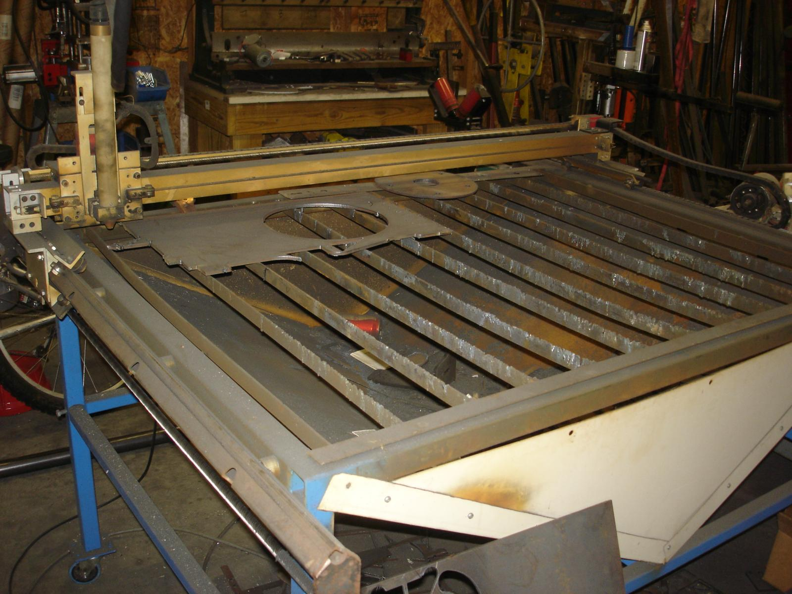 Homemade CNC Plasma Cutting Table