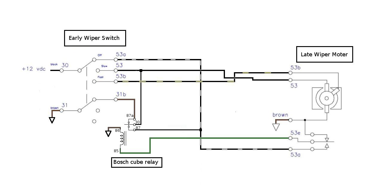 Bosch Wiper Motor Wiring Diagram Harness Mopar Thesamba Com Bay Window Bus View Topic 77 Into A 3 Speed