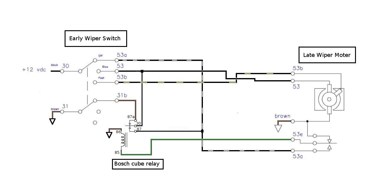 TheSamba.com :: Bay Window Bus - View topic - 77 wiper motor into a 68 -  Wiring confusion!!TheSamba.com
