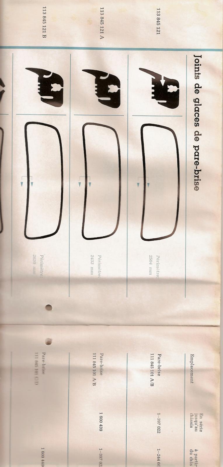 early windshield rubber info