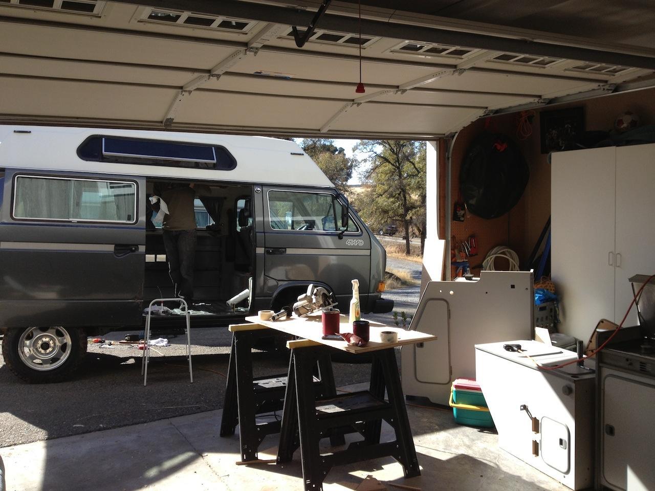 Westfaia camper kit installed in to a Adventurewagen
