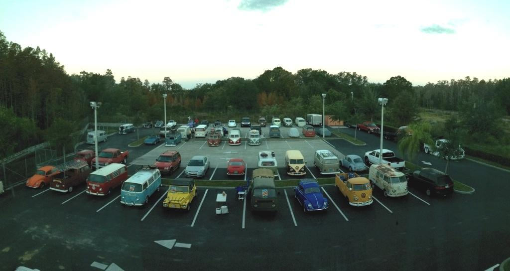 Best Western parking lot the morning after Bulli Brigade XIX