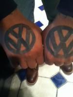Vw hand tattoo