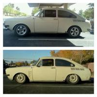 couple pics of the 71 fastback sitting low