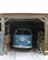 My Kombi out in the snow