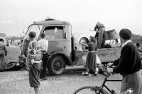 Auto- und Motorradstraßenrennen auf der Autobahn Salzburg-Liefering 1952