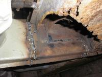 welding in replacement frame/engine carrier