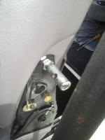 Armrest install on Porsche seats.