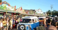 Bus parade in Nimbin Aus.