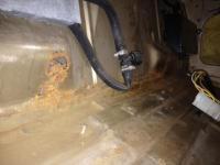 Rust 1986 above tank
