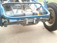 winch bumper for rail buggy