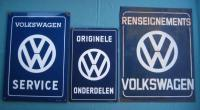 3 original VW signs