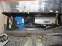 Vanagon under floor storage compartment