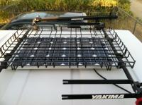 Solar Panel under basket 84 Westy