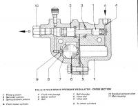 Bus Brake Pressure Regulator Drawing