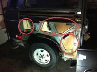 rear empty space areas - RH side