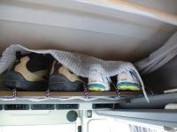 Shoe storage for Westy