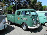 Green Double Cab with logos