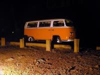 1971 Bus camping at night