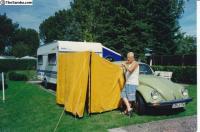 vw bug side tent, rare, accessory