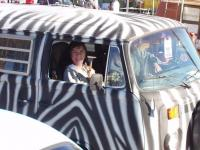 Mary-Anne and Chip in the Zebra Bus