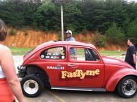 Old VW Gasser FASTYME @ Newport VW Drag Day 2013
