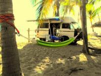 Camping in La Manzanilla, Mexico mainland