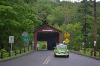 77 Bug going thru the Cornwall Covered Bridge