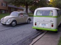 '66 savanna beige sunroof bug