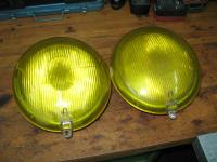 Headlight lens covers yellow
