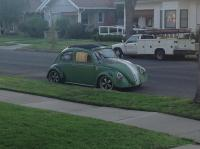 Faketina race bug sitting out front
