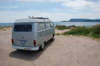 78 Westy on beach in Ingonish