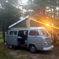 78 Westy with sun