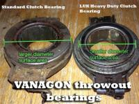 Vanagon Clutch Throw Out Bearing Comparison
