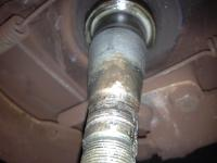 1967 Front Spindle after spun bearing