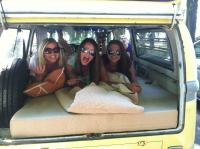 My three nieces having fun in the Westy