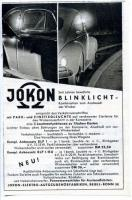 Jokon Blinklicht extra turn signal ad from 1960