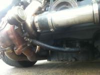 Turbo Subaru oil lines