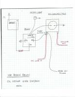 Oil Cooler Wiring Diagram with Relay and Thero Switch