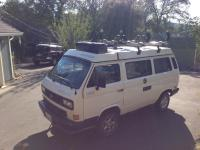 Syncro with Yamaha Cargo Box in Westfalia Cargo Rack