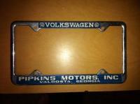 Pipkins Motors plate frame