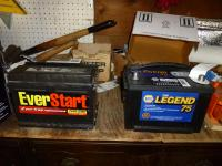 New NAPA starting battery stock size for 1981