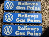 """Relieves Gas Pains"" Bumper Sticker"