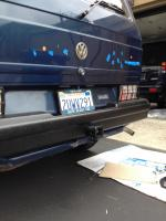 More rear bumper with bedliner