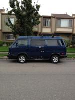 Van with bedliner